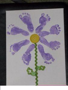 footprint flower craft