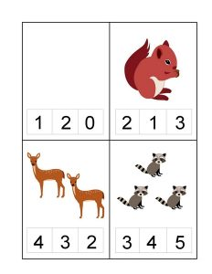 forest animals count and clip cards (2)