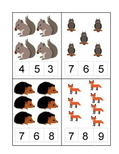 forest animals count and clip cards (3)