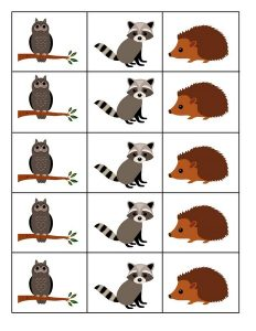 forest animals pattern cards (1)