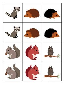 forest animals pattern cards (2)