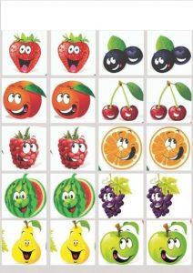 fruits memory game printables (1)