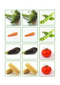fruits memory game printables