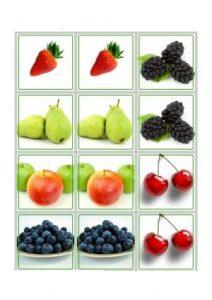 fruits memory game printables (3)