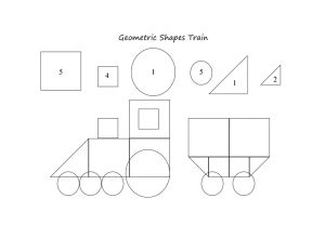 geometric shapes train printables