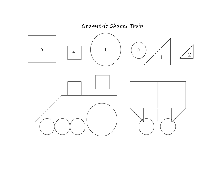 Geometric Shapes Train Printables « Funnycrafts