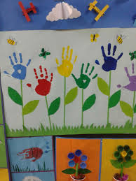 hand and foot print flowers for kids (6)