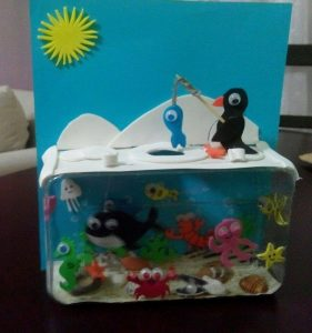 how to build a children's craft aquarium