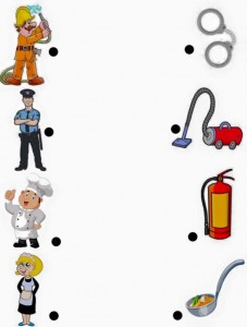 jobs matching worksheets for kıds (5)