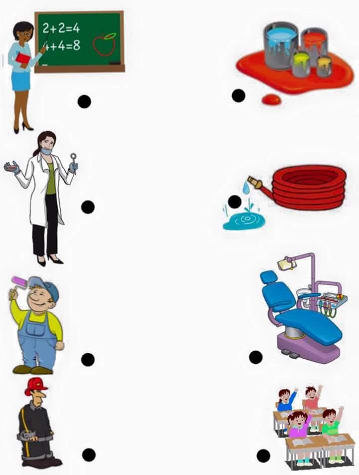 Jobs Matching Worksheets For Kıds 6 171 Funnycrafts