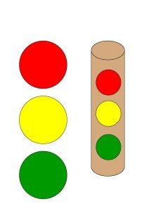 make a traffic light for kids