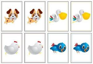 memory game printables animals