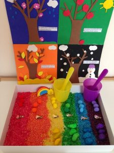 montessori inspired rainbow activities