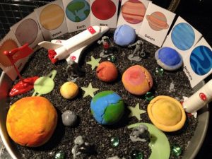 montessori inspired space activities