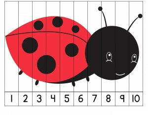 number puzzles ladybug