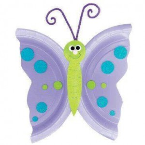 paper plate spring butterfly craft