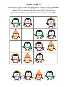 penguin sudoku free printables (3)