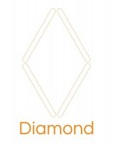 popsicle stick diamond template