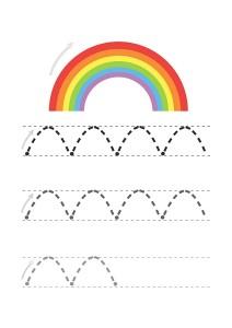 rainbow line handwriting worksheet