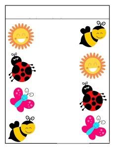 season spring matching printables (2)