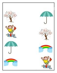 season spring matching printables (3)