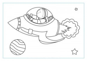 space coloring worksheets (6)