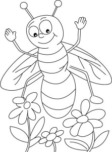 spring bee coloring pages (20)
