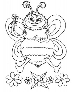 spring bee coloring pages (30)