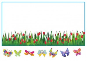 spring butterfly cut and paste activity