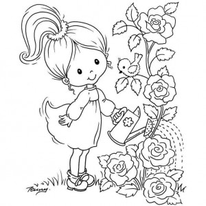 spring coloring pages 7 - Spring Color Pages