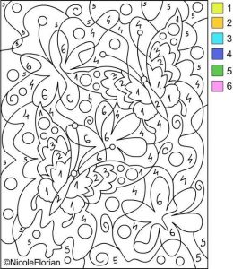spring counting coloring pages