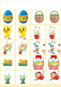 spring easter memory game printables