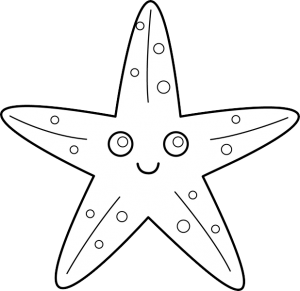 starfish coloring pages for kids (1)