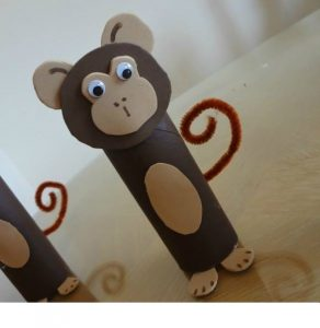 toilet paper roll monkey craft (1)