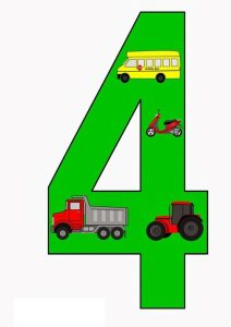 vehicles number cards (2)