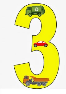 vehicles number cards (3)
