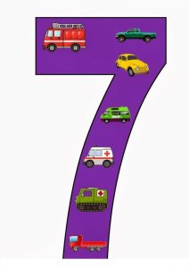 vehicles number cards (4)