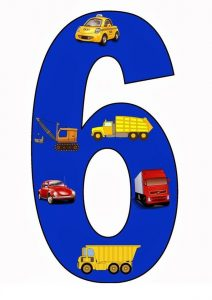 vehicles number cards (6)