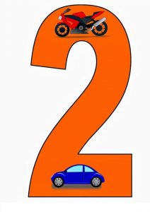 vehicles number cards (7)