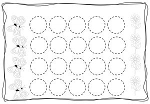 Circles tracing worksheets for kids (5)