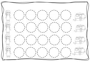 Circles tracing worksheets for kids (8)