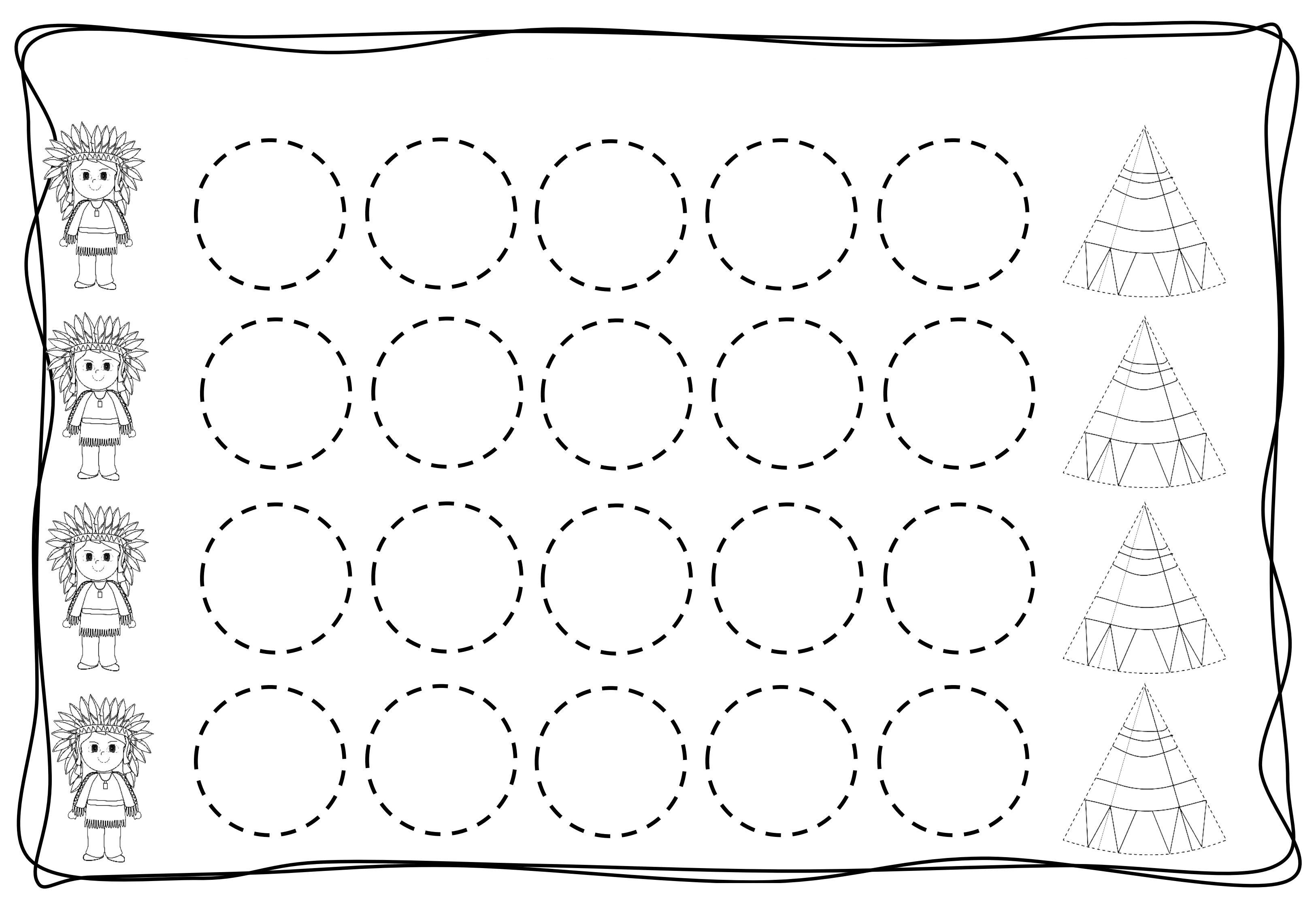 math worksheet : circles tracing worksheets for kids 9 « funnycrafts : Printing Worksheets For Kindergarten
