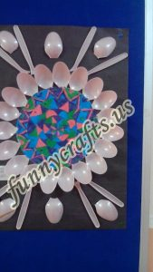 Plastic spoon mandala crafts (1)