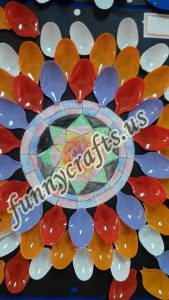 Plastic spoon mandala crafts (4)