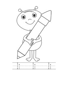 alien letter coloring pages (1)