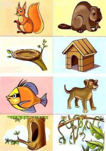 animals and their homes printables (1)