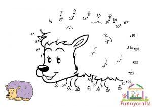 animals dot to dots sheet