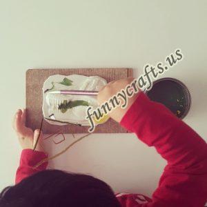 art plaster painting for kids