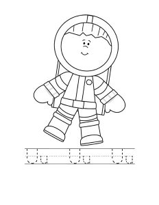 astronout letter coloring page (3)