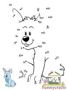 bunny dot to dots sheet (2)